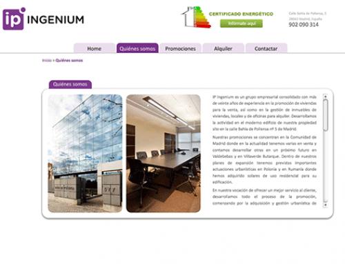 IP INGENIUM: Página Web
