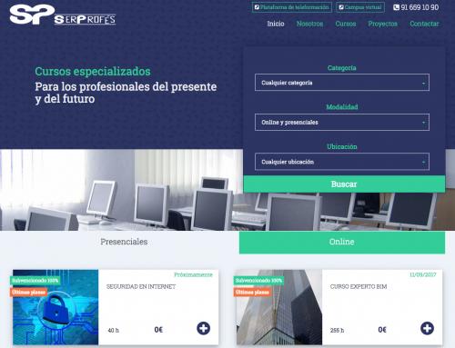 SERPROFÉS – Diseño y programación de página web