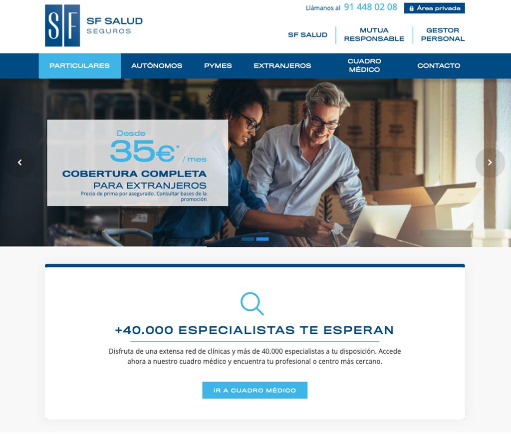 Website SF Salud